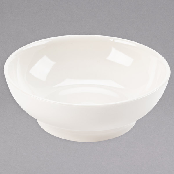 Homer Laughlin 40000 Empire 13.75 oz. Ivory (American White) China Soup Bowl - 36/Case