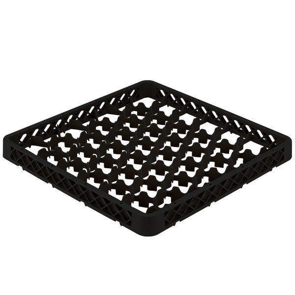 Vollrath TRM-06 Traex® Full-Size Black 42 Compartment Glass Rack Extender Main Image 1