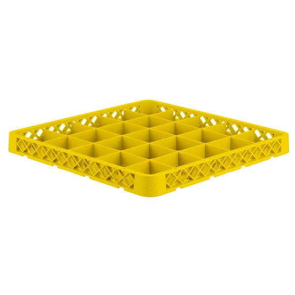 Vollrath TRB-08 Traex® Full-Size Yellow 25 Compartment Glass Rack Extender