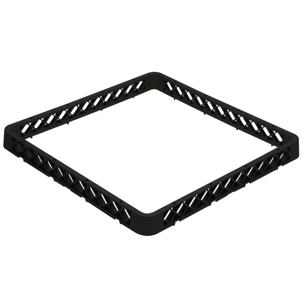 Vollrath TRA-06 Traex® Full-Size Black Open Glass Rack Extender Main Image 1