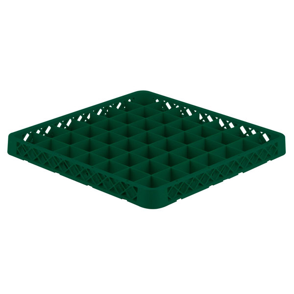Vollrath TRE-19 Traex® Full-Size Green 49 Compartment Glass Rack Extender