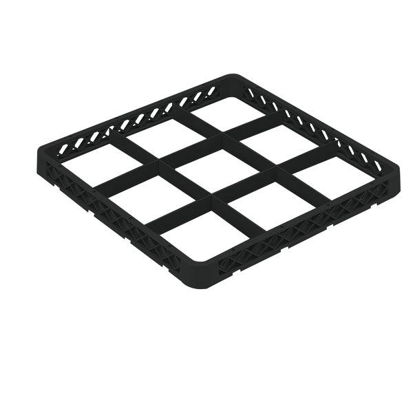 Vollrath TRF-06 Traex® Full-Size Black 9 Compartment Glass Rack Extender