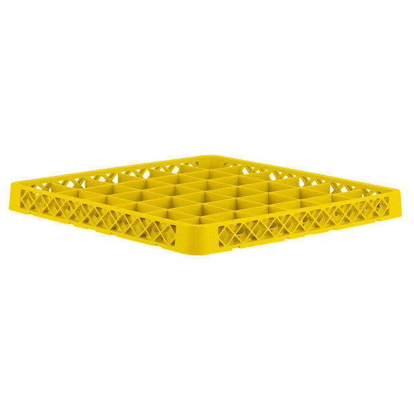 Vollrath TRC-08 Traex® Full-Size Yellow 36 Compartment Glass Rack Extender Main Image 1