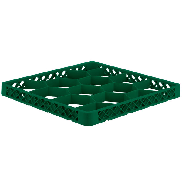 Vollrath TRJ-19 Traex® Full-Size Green 12 Compartment Glass Rack Extender Main Image 1