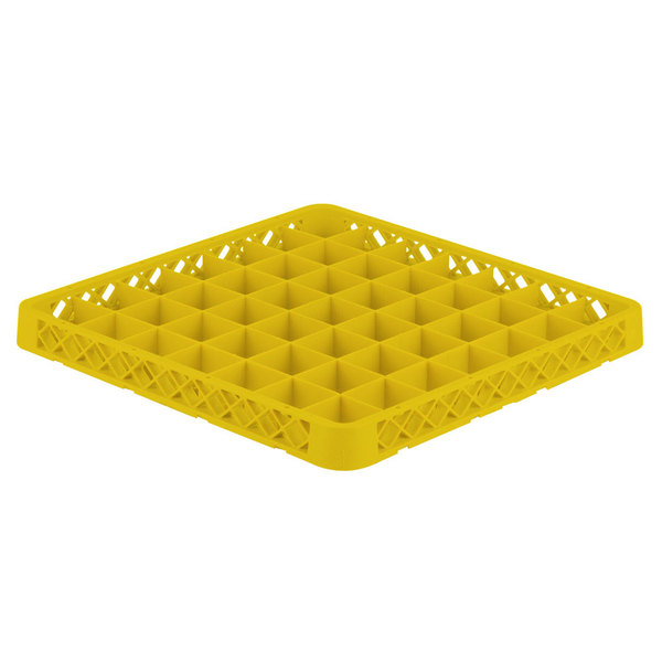 Vollrath TRE-08 Traex® Full-Size Yellow 49 Compartment Glass Rack Extender