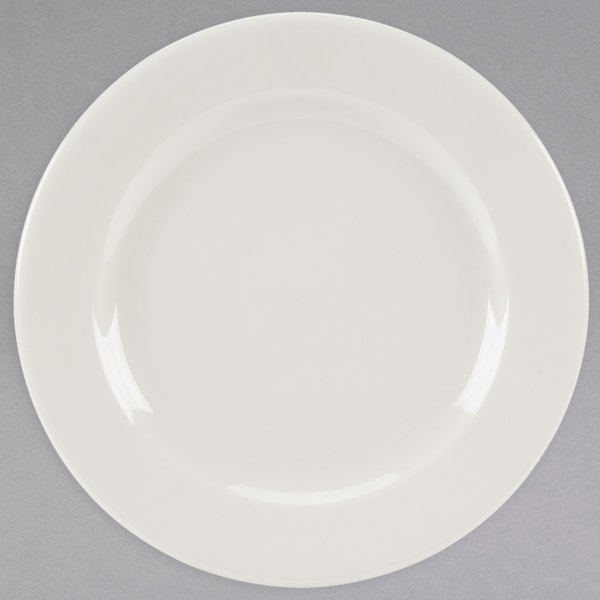 """Homer Laughlin 40400 Durathin 6 1/4"""" Ivory (American White) China Plate - 36/Case"""