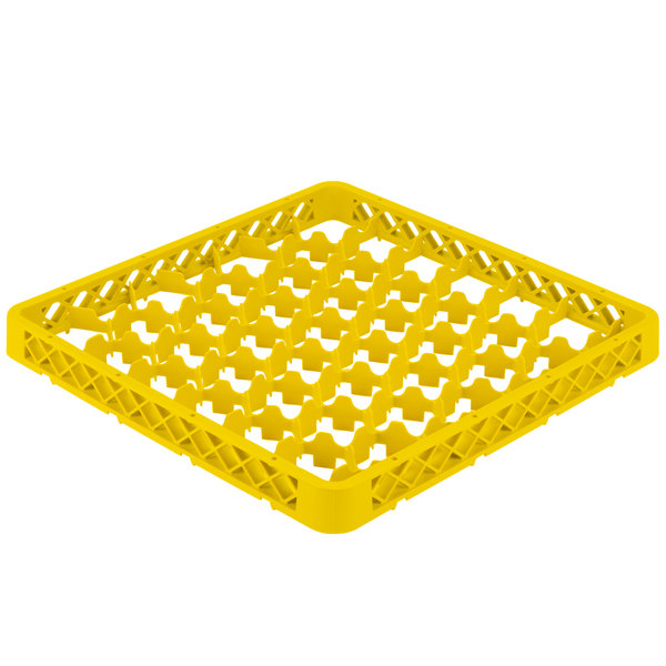 Vollrath TRM-08 Traex® Full-Size Yellow 42 Compartment Glass Rack Extender