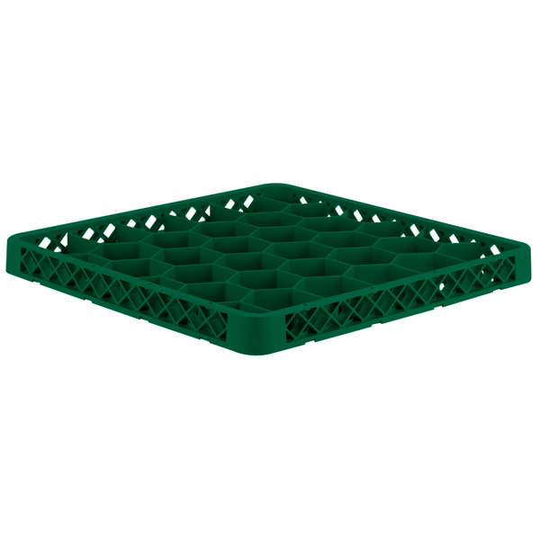 Vollrath TRH-19 Traex® Full-Size Green 30 Compartment Glass Rack Extender Main Image 1