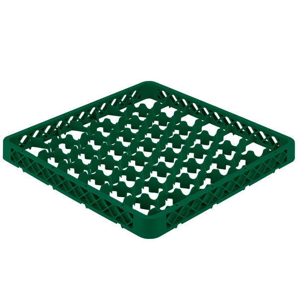 Vollrath TRM-19 Traex® Full-Size Green 42 Compartment Glass Rack Extender Main Image 1