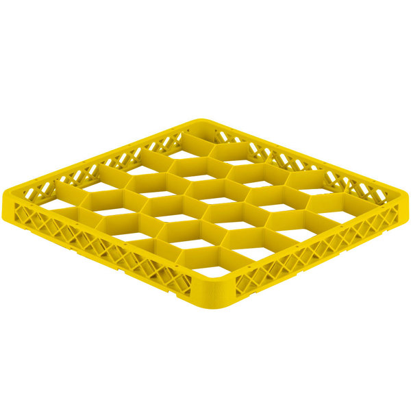 Vollrath TRG-08 Traex® Full-Size Yellow 20 Compartment Glass Rack Extender