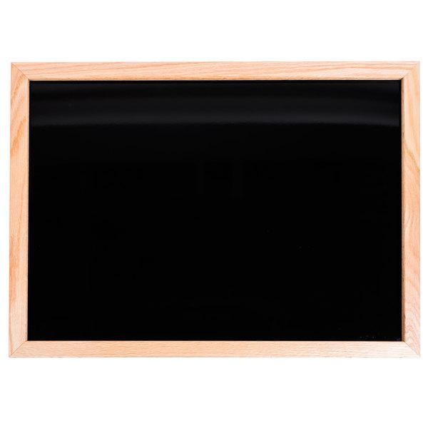 Aarco BOC1824NT-B OAK 18 inch x 24 inch Oak Frame Black Marker Board