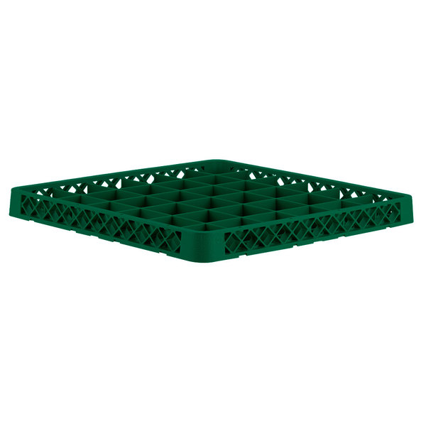 Vollrath TRC-19 Traex® Full-Size Green 36 Compartment Glass Rack Extender Main Image 1