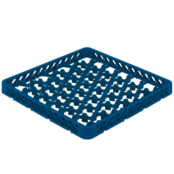 Vollrath TRM-44 Traex® Full-Size Royal Blue 42 Compartment Glass Rack Extender Main Image 1