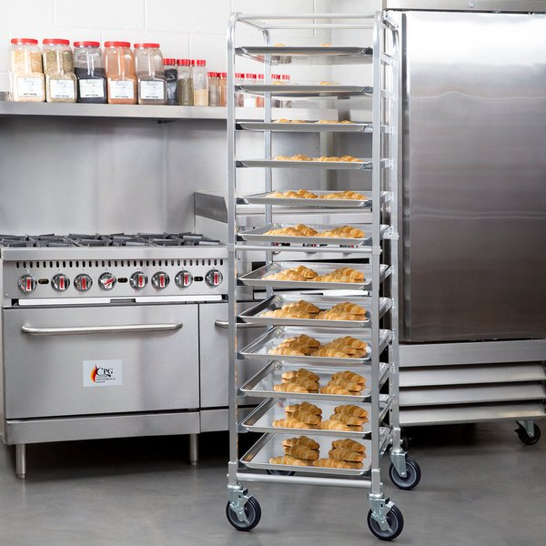Regency 12 Pan End Load Bun / Sheet Pan Rack - Assembled