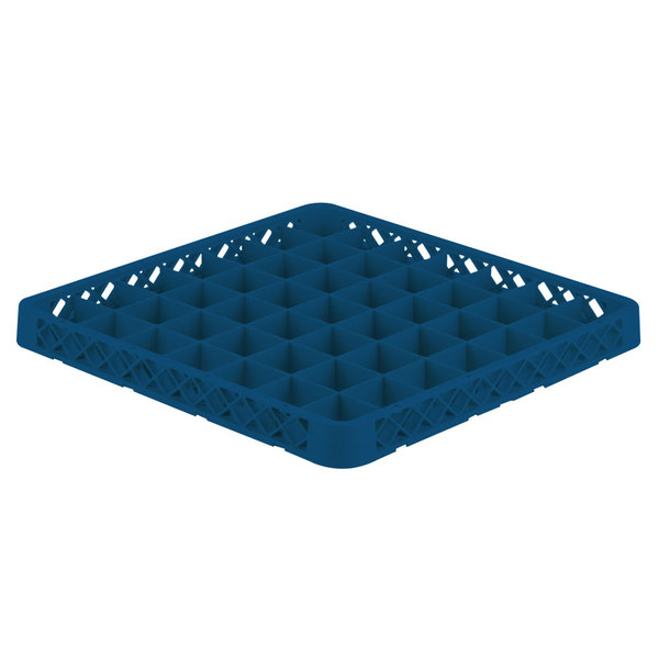 Vollrath TRE-44 Traex® Full-Size Royal Blue 49 Compartment Glass Rack Extender Main Image 1