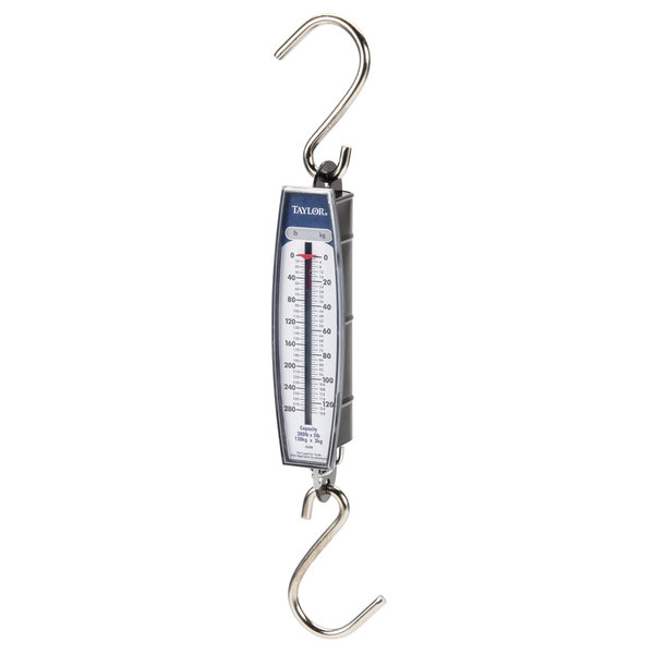 Taylor 3328 Industrial Hanging Spring Scale - 280 lb. x 5 lb.