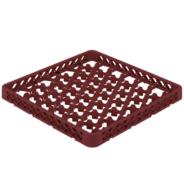Vollrath TRM-21 Traex® Full-Size Burgundy 42 Compartment Glass Rack Extender Main Image 1