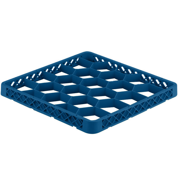 Vollrath TRG-44 Traex® Full-Size Royal Blue 20 Compartment Glass Rack Extender Main Image 1