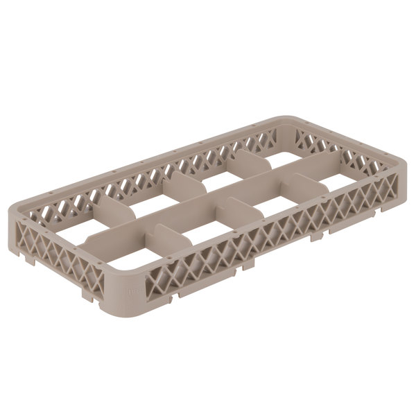 Vollrath HRB Traex® Half-Size Beige 8 Compartment Glass Rack Extender