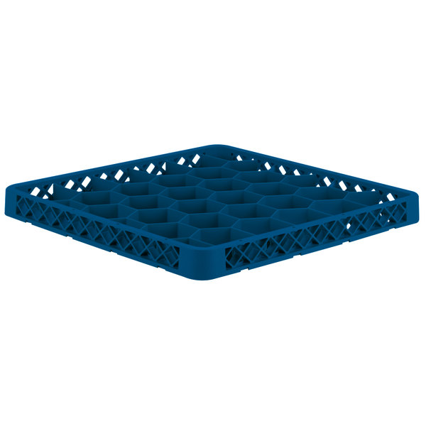 Vollrath TRH-44 Traex® Full-Size Royal Blue 30 Compartment Glass Rack Extender Main Image 1