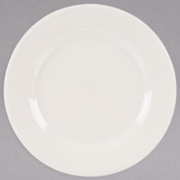 "Homer Laughlin 3688000 Seville 8 1/8"" Ivory (American White) China Plate - 36/Case"