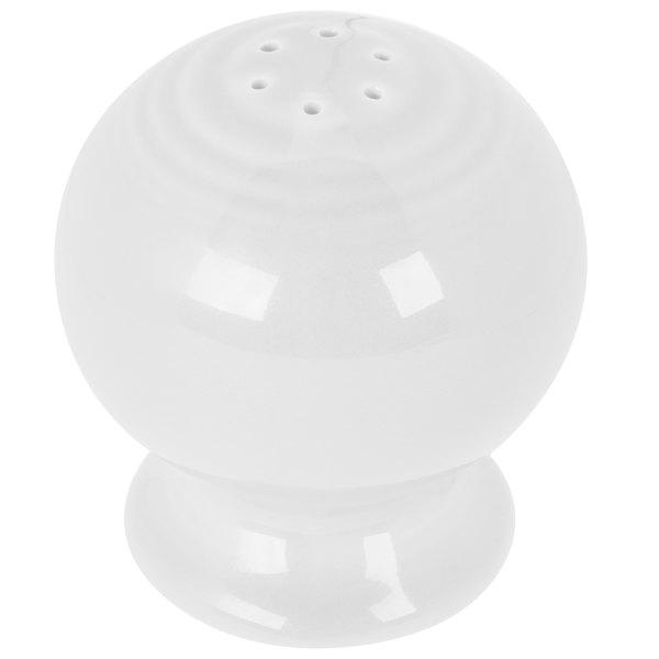 Homer Laughlin 751100 Fiesta White Pepper Shaker - 12/Case