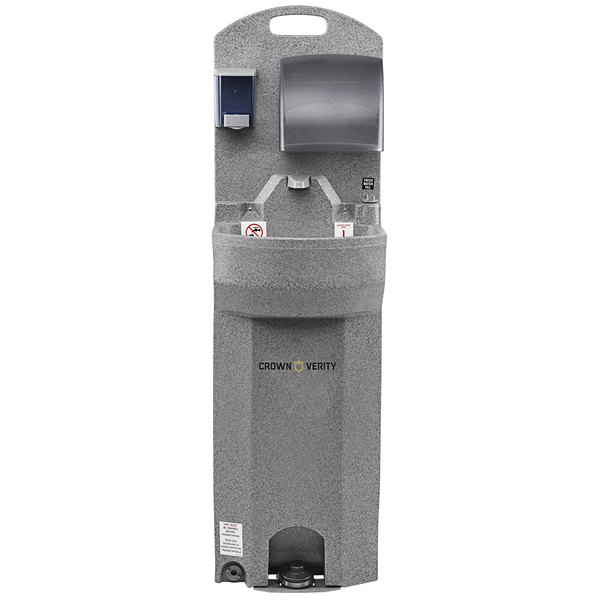 Crown Verity CV-EHS-E 15 Gallon Economy Warm Wash Portable Outdoor Hand Sink - Single Bowl Main Image 1
