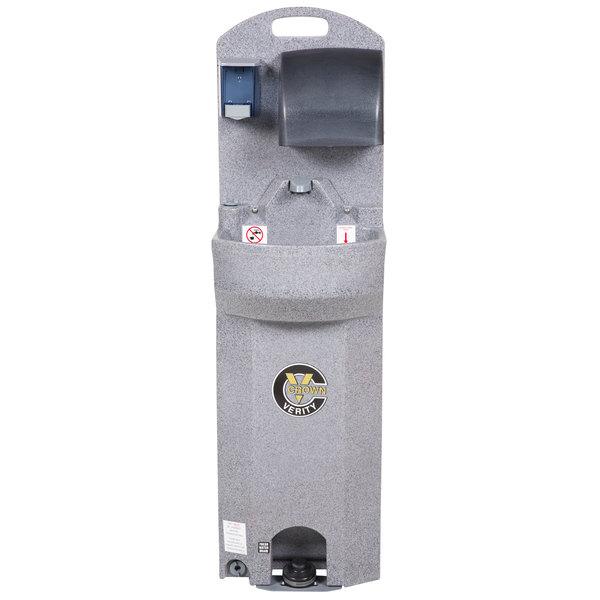 Crown Verity CV-EHS-E 15 Gallon Economy Warm Wash Portable Outdoor Hand Sink - Single Bowl