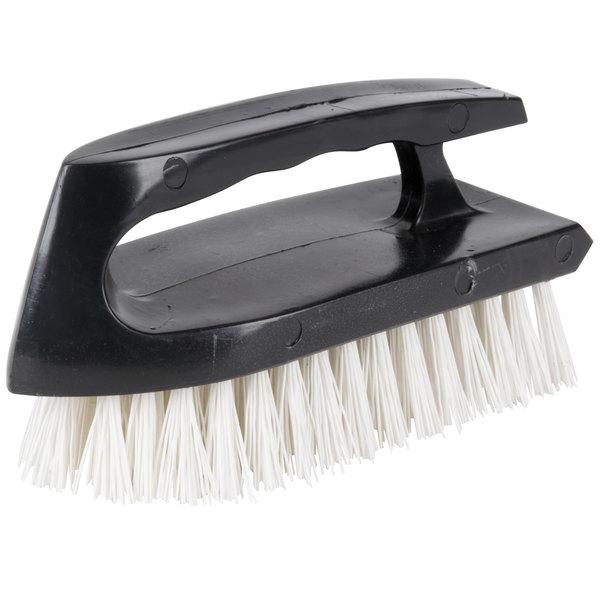 "ACS B125 5 1/2"" Scrubble Iron Handle Scrub Brush with Poly Bristles Main Image 1"