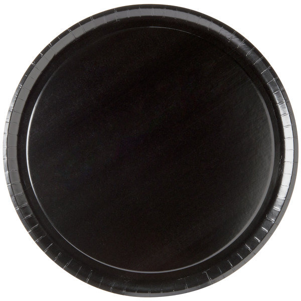 """Solut 74555 15"""" Take and Bake Pizza Tray Coated Corrugated Black - 10/Pack"""