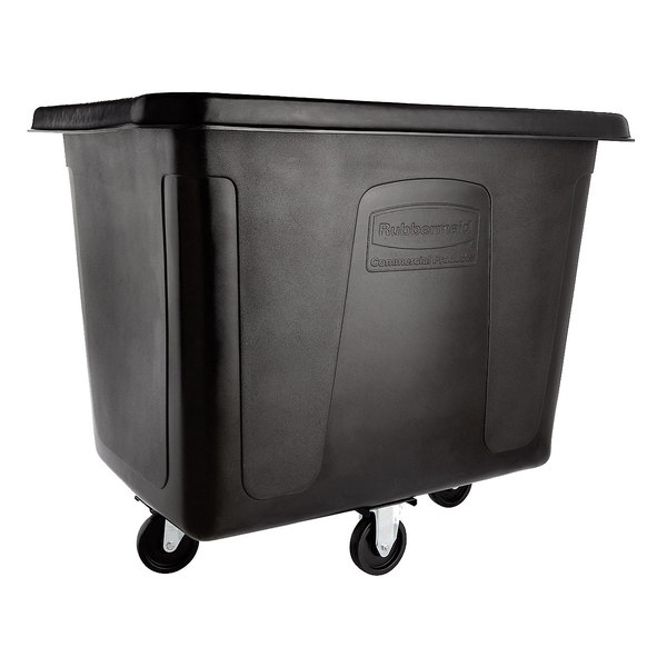 Rubbermaid FG461600BLA Black 16 Cu. Ft. Bulk Cube Truck (500 lb.) Main Image 1