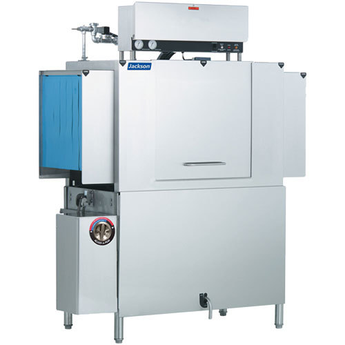 Jackson AJX-54 Single Tank Low Temperature Conveyor Dish Machine - Left to Right, 208V, 3 Phase