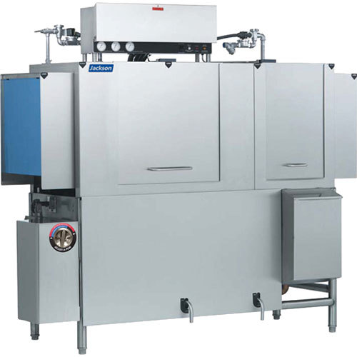 Jackson AJX-76 Single Tank High Temperature Conveyor Dish Machine - Right to Left, 208V, 3 Phase