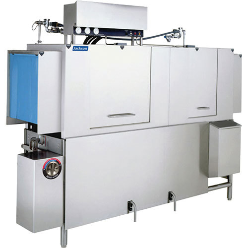 Jackson AJX-90 Single Tank High Temperature Conveyor Dish Machine - Right to Left, 208V, 3 Phase Main Image 1