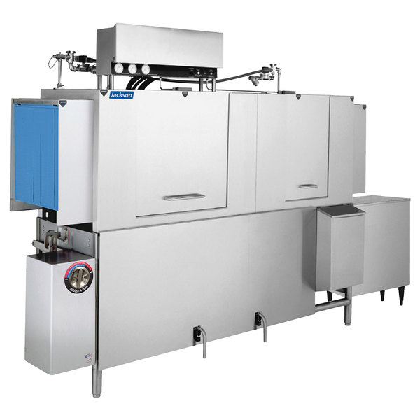 Jackson AJ-80 Single Tank High Temperature Conveyor Dishmachine - Left to Right, 208V, 3 Phase Main Image 1