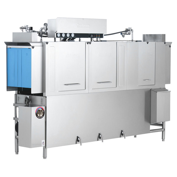 Jackson AJ-100 Dual Tank High Temperature Conveyor Dishmachine - Right to Left, 230V, 3 Phase