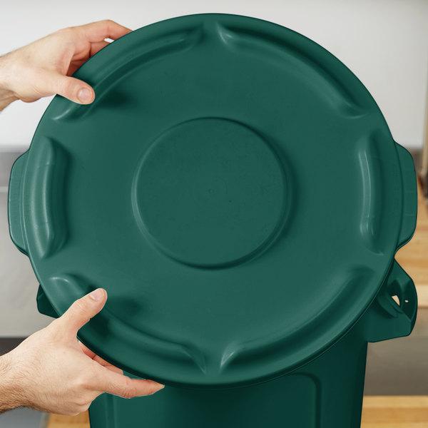 Rubbermaid FG260900DGRN BRUTE Green 10 Gallon Trash Can Lid