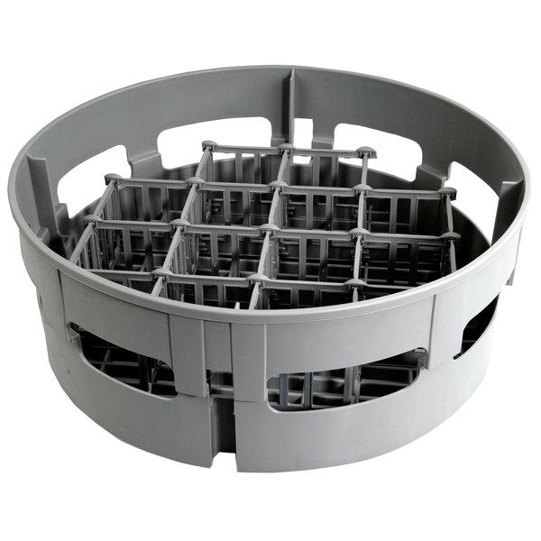 "Jackson 07320-100-17-01 Round 12-Compartment Glass Rack for Jackson Model 10 Round Dish Machine - 17 1/2"" Main Image 1"