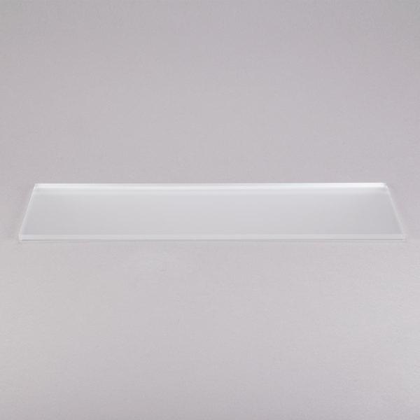 "Eastern Tabletop 05247AC 24"" x 7"" Rectangular Acrylic Buffet Shelf"