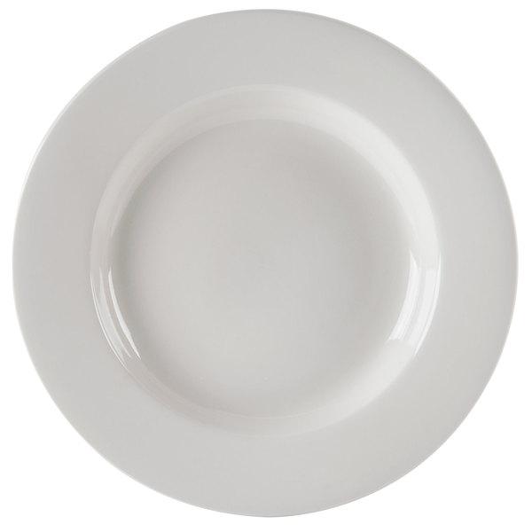 CAC REC-125 30 oz. Ivory (American White) Rolled Edge China Pasta Bowl - 12/Case Main Image 1