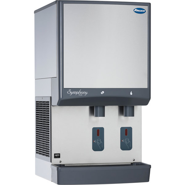 Follett 50CI425A-S Symphony Countertop Air Cooled Ice Maker and Water Dispenser - 50 lb.