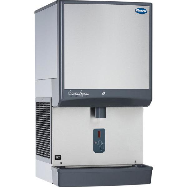 Follett 12CI425A-SI Symphony Countertop Air Cooled Ice Maker / Dispenser - 12 lb. Main Image 1