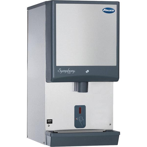 Follett 25CI425W-SI Symphony Countertop Water Cooled Ice Maker / Dispenser - 25 lb.