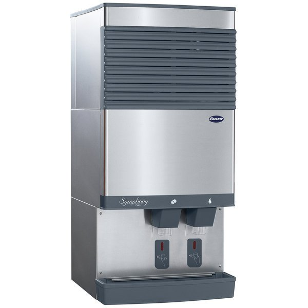Follett 110CT425A-S Symphony Countertop Air Cooled Ice Maker and Water Dispenser - 90 lb. Main Image 1