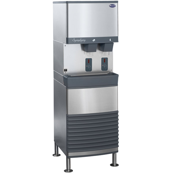 Follett 25FB425W-S 25 Series Water Cooled Freestanding Ice and Water Dispenser - 25 lb. Storage Main Image 1