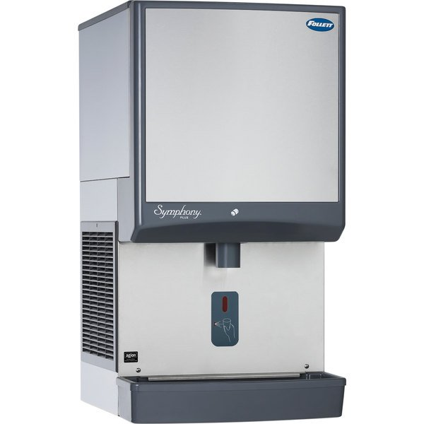 Follett 50CI425A-SI Symphony Countertop Air Cooled Ice Maker / Dispenser - 50 lb. Main Image 1