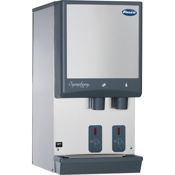 Follett 12CI425A-S Symphony Countertop Air Cooled Ice Maker and Water Dispenser - 12 lb.