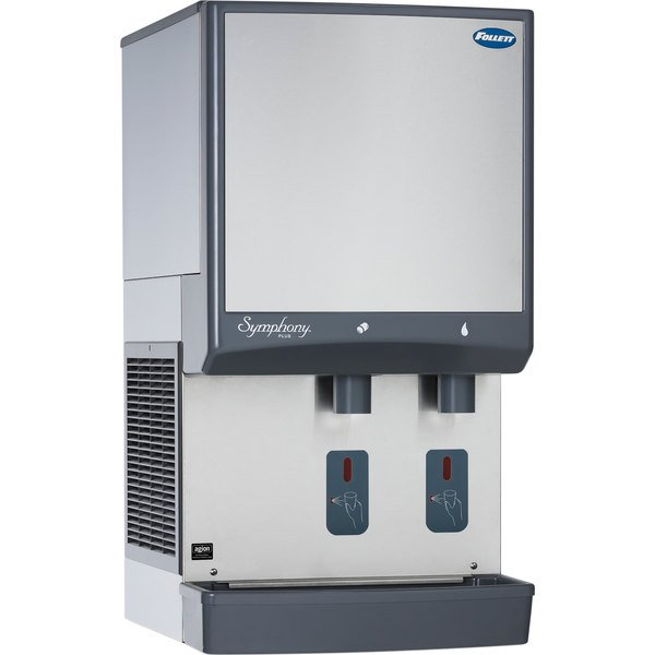 Follett 25CI425A-S Symphony Countertop Air Cooled Ice Maker and Water Dispenser - 25 lb. Main Image 1