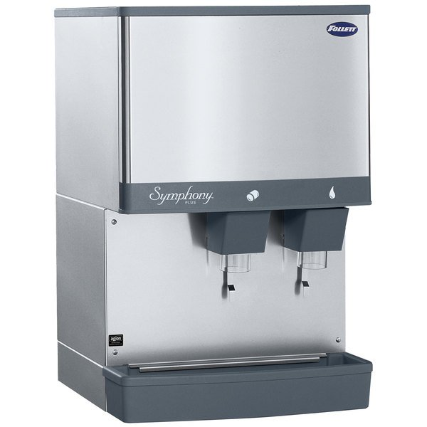 Follett 50CI425W-L Symphony Countertop Water Cooled Ice Maker and Water Dispenser - 50 lb. Main Image 1