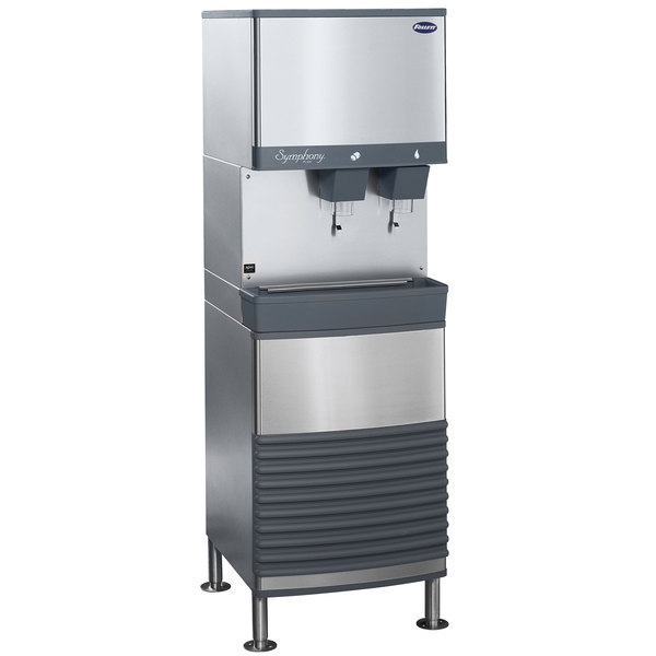 Follett 25FB425W-L 25 Series Water Cooled Freestanding Ice and Water Dispenser - 25 lb. Storage